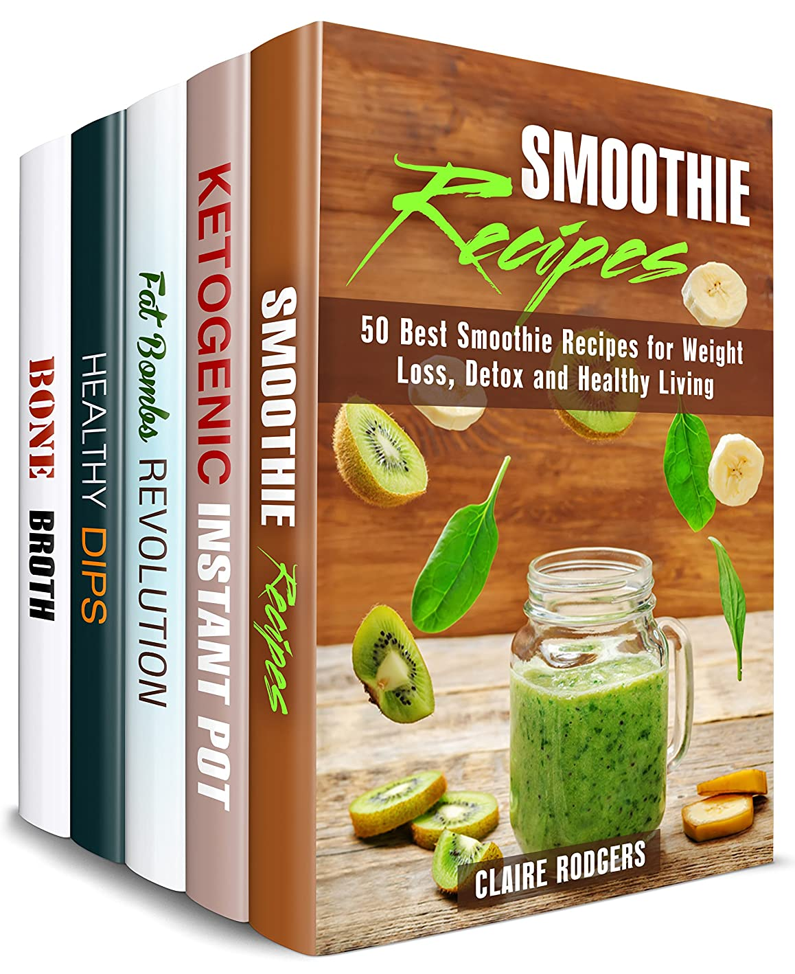 Super Healthy Box Set (5 in 1): Over 200 Smoothies, Keto Recipes, Fat Bombs, Dips, Dippers and Bone Broths for Healthy Living (Weight Loss & Healthy Living) (English Edition)