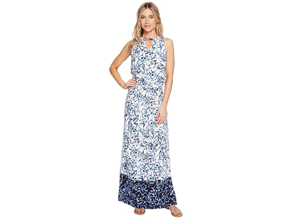 Tommy Bahama - Tommy Bahama Sketchbook Blossoms Maxi Dress Cover-Up