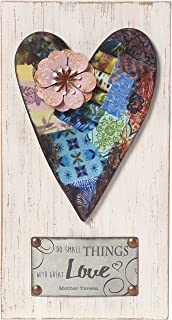 Precious Moments Farmhouse Decor Do Small Things With Great Love Wood/Metal Wall Plaque 189912