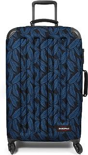 Eastpak Tranzshell M Valise, 67 cm, 56 L, Bleu (Leaves Blue)