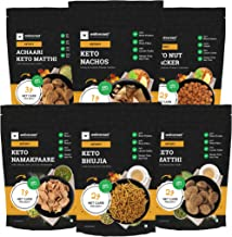 Ketofy - Keto Namkeen Pack (1.5Kg)   New Pack of 6 Delicious Keto Namkeens