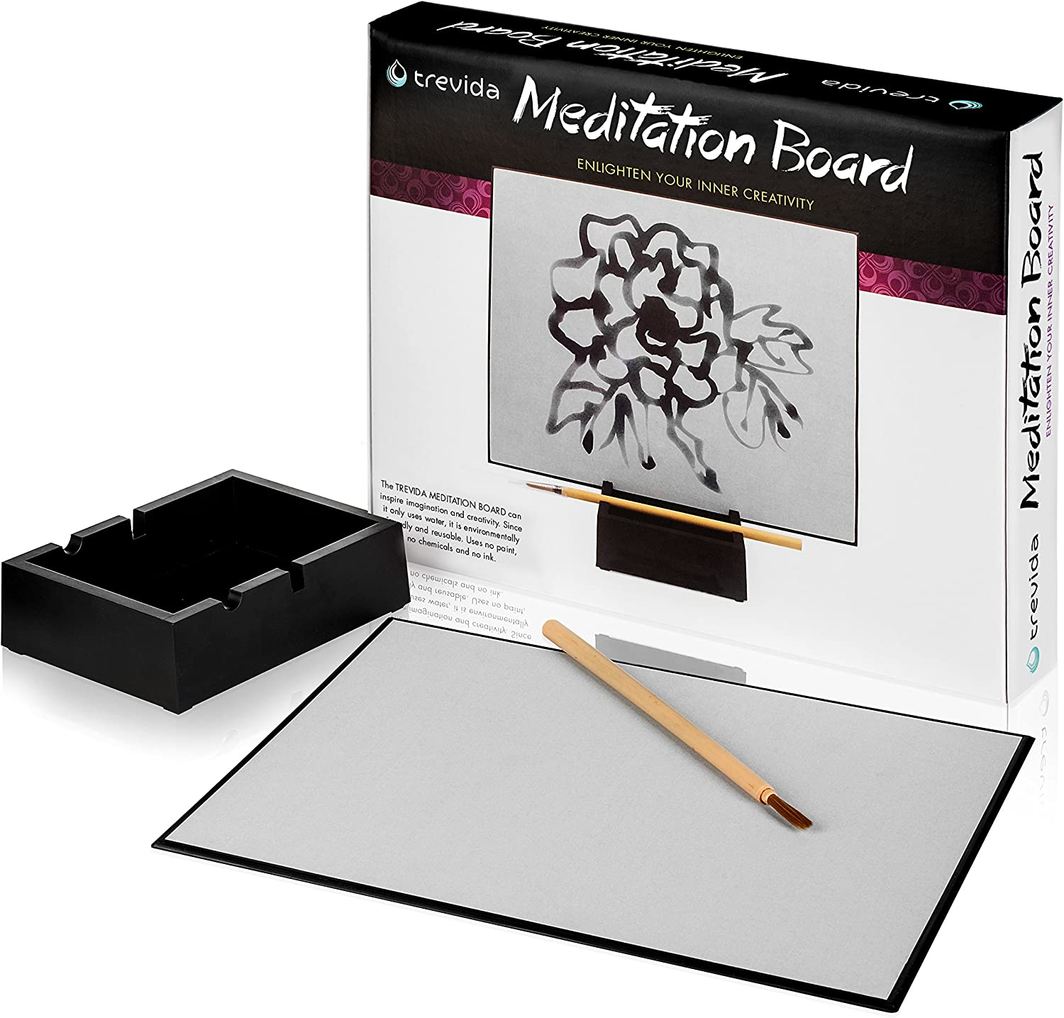 Trevida Premium Meditation Board  Soothing Water Drawing Buddha Board for Relaxation and Personal Reflection