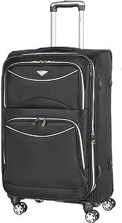 Flight Knight Lightweight 8 Wheel 1680D Soft Case Suitcases Maximum Size For Delta, United and SkyWest - Medium Black FK0040_M