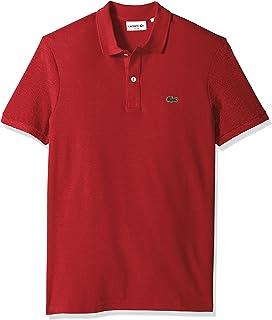 bdff17d392e Lacoste Men s Classic Pique Slim Fit Short Sleeve Polo Shirt