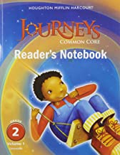 Journeys: Common Core Reader's Notebook Consumable Volume 1 Grade 2