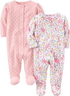 Simple Joys by Carter's 2-Pack Cotton Footed Sleep and Play Bébé Fille, Lot de 2
