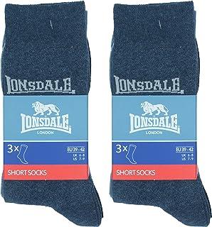 6 pares de calcetines cortos, altura media de la pantorrilla, excelente calidad de algodón
