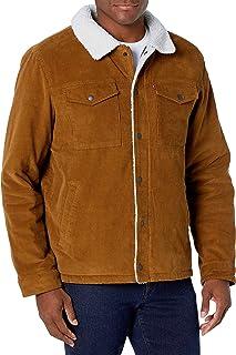 Men's Corduroy Sherpa Lined Trucker Jacket (Standard and...