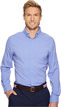 Vineyard Vines - Whale Cay Micro Gingham Performance Classic Murray Shirt