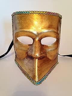 Gold Foglia Oro Bauta Venetian Masquerade Mask