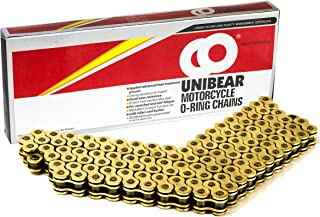 Unibear O-Ring 530 110 Links Motorcycle Chain, with 1 Connecting Link, Gold