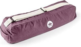 Lotuscrafts Yoga Mat Bag Pune - Fair & Ecological - Yoga Bag Made of 100% Organic Cotton - Yoga Bag for Yoga Mat - Yoga Mat Cover - Yoga Mat Carrier Bag - Yoga Equipment Bag