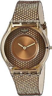 Swatch Women's SFC105 Skin Analog Display Swiss Quartz Brown Watch