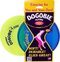product image for Aerobie Dogobie Discs for Dogs (Pack of 2) (1 Blue Disc, 1 Yellow Disc)