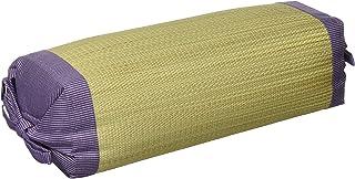 イケヒコ い草 枕 スリム 無地角枕 約30×15cm パープル 日本製 #3607419