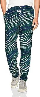 Zubaz Men's Classic Zebra Printed Athletic Lounge Pants, New Blue/Green, M