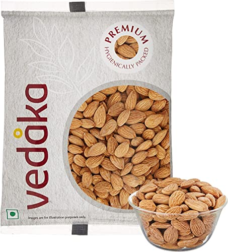 Amazon Brand Vedaka Premium Roasted and Salted Almonds 200g
