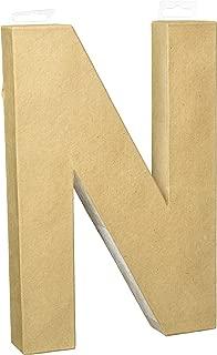 Darice 2861-N Paper Mache Letter 12Inx1.5In
