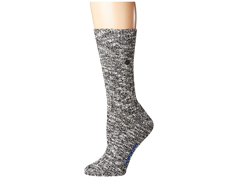 Birkenstock Cotton Slub Socks (Black/Gray) Women