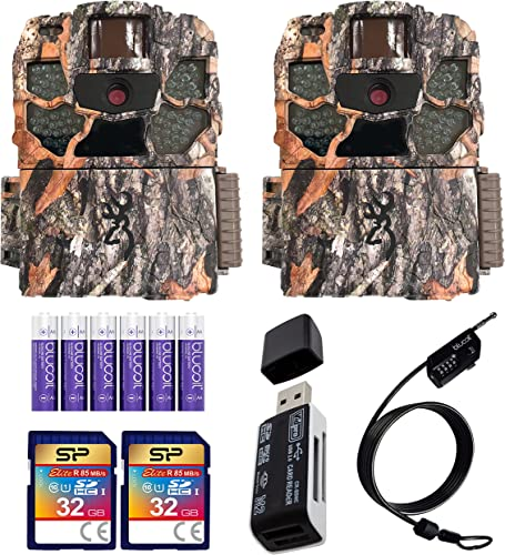 wholesale Browning BTC-5HD-MXP Strike Force HD MAX Plus Trail Cameras (2-Pack) Bundle with 32GB SDHC Memory Cards (2-Pack), high quality Blucoil 6 AA Batteries, 6.5-FT Combination Cable Lock, outlet sale and USB 2.0 Card Reader outlet sale