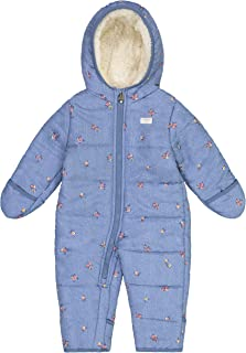 Osh Kosh Baby Girls' Pram Suit with Cozy Lining, Chambray/Floral, 6/9MO