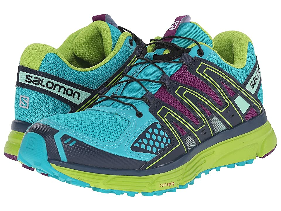 Salomon X-Mission 3 (Teal Blue/Granny Green/Passion Purple) Women