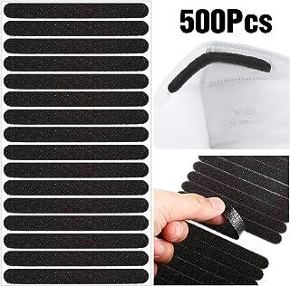 500 Pieces Nose Bridge Pads Sponge Anti-Fog Cushion Self Adhesive Nose Bridge Sponge Protection Strip for DIY Making Sewing Crafts Comfortable Sealing (Black)