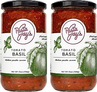 Pasta Jay's Italian Pasta Sauce, Tomato Basil, 25 oz (Pack of 2)