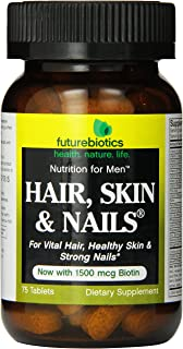 Futurebiotics Hair Skin Nails For Men Tablets, 75-Count