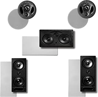 Polk Audio Vanishing LS Series 5.0 in-Wall/in-Ceiling Home Theater Speaker System (2-265LS, 2-700LS & 1-255CLS)