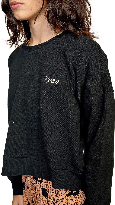 RVCA Women's Graphic Fleece Pullover Crew Neck Sweatshirt
