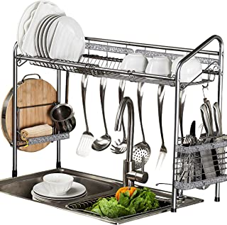 PremiumRacks Professional Over The Sink Dish Rack - Fully Customizable - Multipurpose - Large Capacity