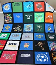 T-Shirt Quilt with fabric to create a frame. Offered in a variety of sizes and colors!