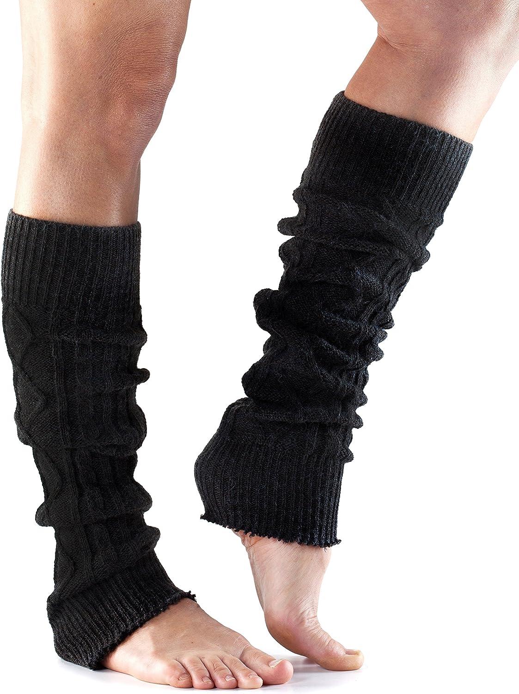 Toesox Unisex Knee High Leg Warmer Yoga, Pilates & Casual Leg Warmer