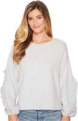 Long Ruffled Sleeve French Terry Top