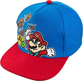 Nintendo Super Mario Boys Blue Baseball Cap Hat Age 4-7