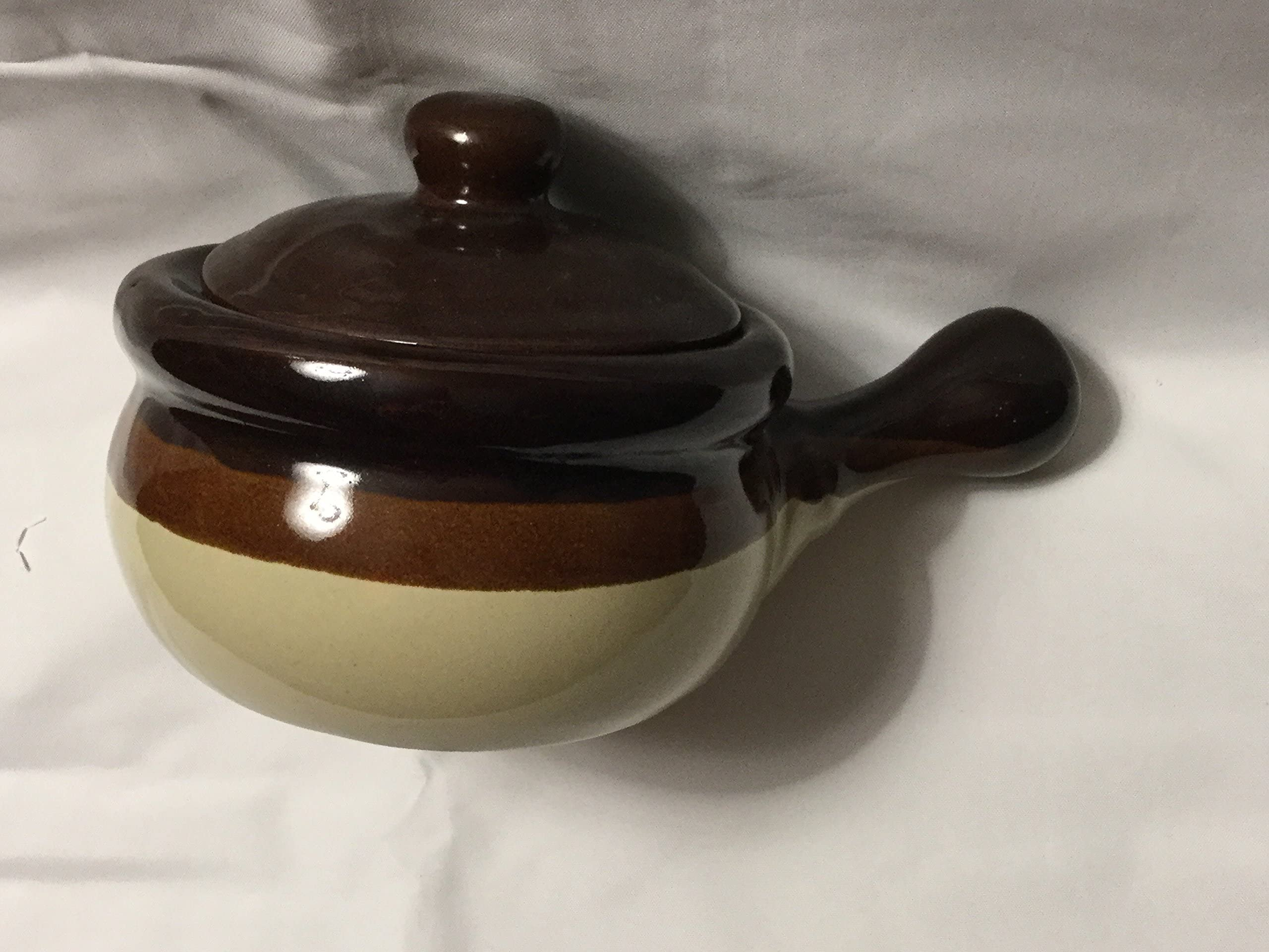 Stoneware Signed Pottery Pot with Lid