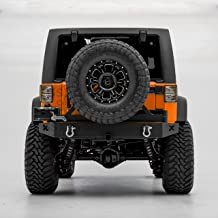 GSI Heavy Duty Rock Crawler Rear Bumper with Swing Away Tire Carrier and 2