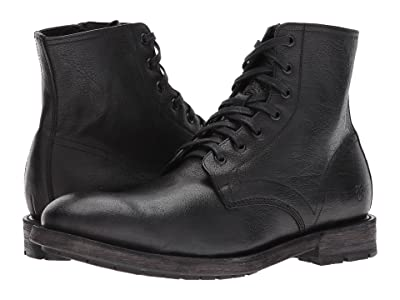 Frye Bowery Lace-Up (Black Buffalo Leather) Men