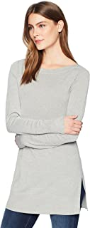 Amazon Brand - Lark & Ro Women's Boatneck Tunic Sweater