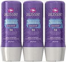Aussie 3 Minute Miracle Moist Deep Conditioning Treatment, Detangler, 8 Fluid Ounces (Pack of 3) - Deep Conditioner