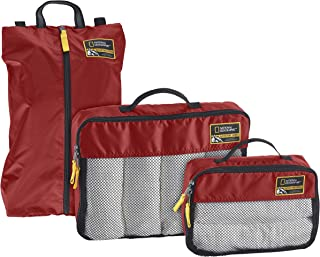 Eagle Creek National Geographic Adventure Essential Packing Set, Firebrick