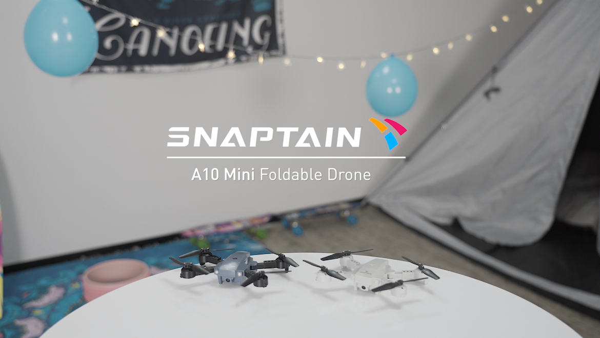 SNAPTAIN A10 Mini Foldable Drone with 720P HD Camera FPV WiFi RC Quadcopter w/Voice Control, Gesture Control, Trajectory…
