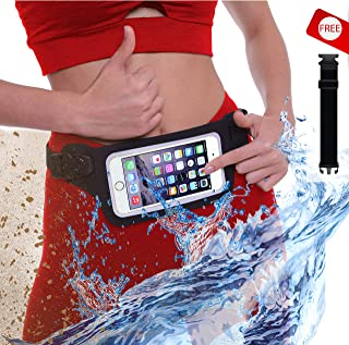 New Waterproof Running Belt Fanny Pack for iPhone 6 7 X 8 8 Plus & Android Samsung - W/Touchscreen Cover - IPX8 Rated Dry Waist Bag Pouch for OCR, Travel, Beach, Swimming, Kayaking, Rafting and More!