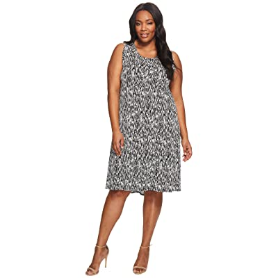 Karen Kane Plus Plus Size Hi Lo Hem Dress (Print) Women