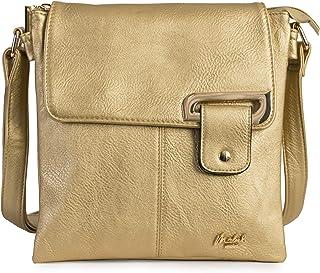Womens Medium Trendy Messenger Cross-Body Shoulder Bag With a Storage Bag - FAITH