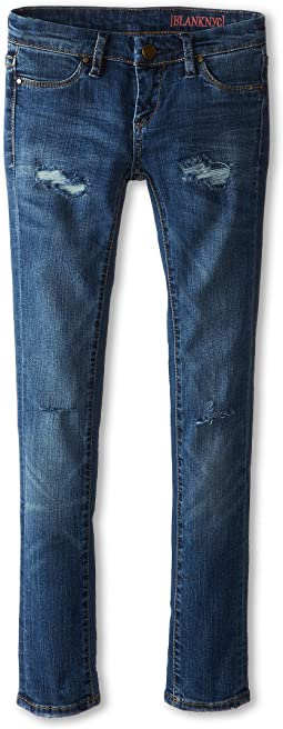Distressed Denim Skinny Jeans in No Time For Dat (Big Kids)