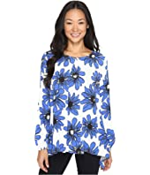 Karen Kane - Blue Daisy Handkerchief Top