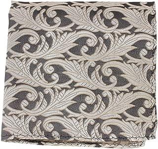 Knightsbridge Neckwear Mens Floral Silk Pocket Square - Grey/Beige