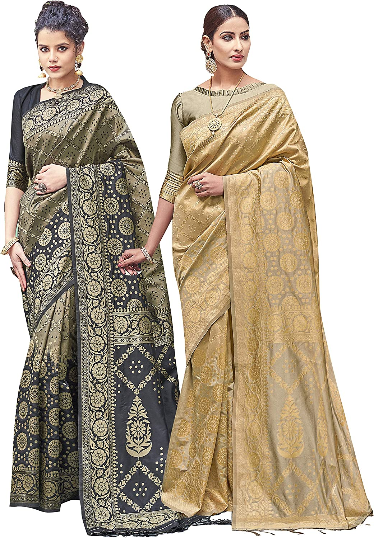 Pack of Two Sarees for Women In Art Saree セール 登場から人気沸騰 Silk Woven Banarasi ◆セール特価品◆
